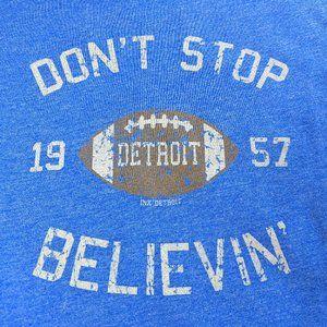 INK DET Don't Stop Believin' Blue T-shirt SZ L